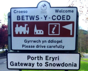 betws-y-Coed gateway-sign