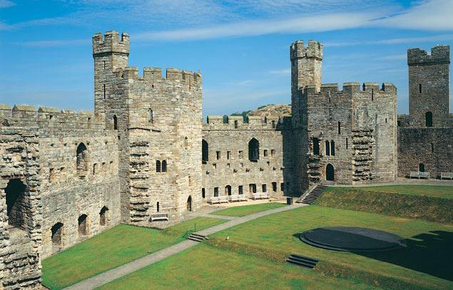 Caernarfon Castle, Caernarfon.