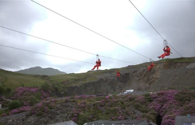 Zip World Titan and Caverns, Blaenau Ffestiniog.