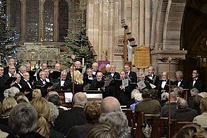 welsh male voice choir in church